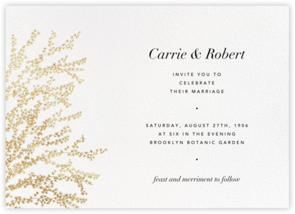 Forsythia (Horizontal) - Gold - Paperless Post - Wedding Invitations