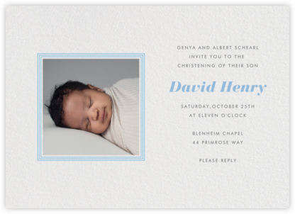 Square Frame (Horizontal) - Blue - Paperless Post - Birth Announcements