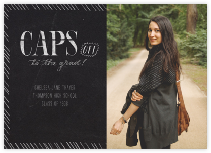 Caps Off (Photo) - Crate & Barrel - Graduation Announcements