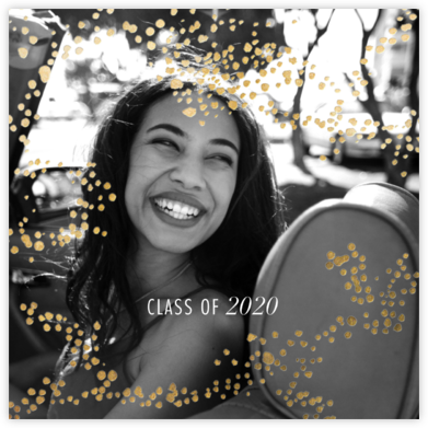 Evoke (Square Photo) - Gold - Kelly Wearstler - Online College Graduation Announcements
