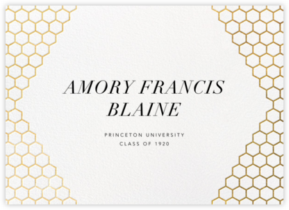 Honeycomb Party - Gold - Paperless Post - Online College Graduation Announcements