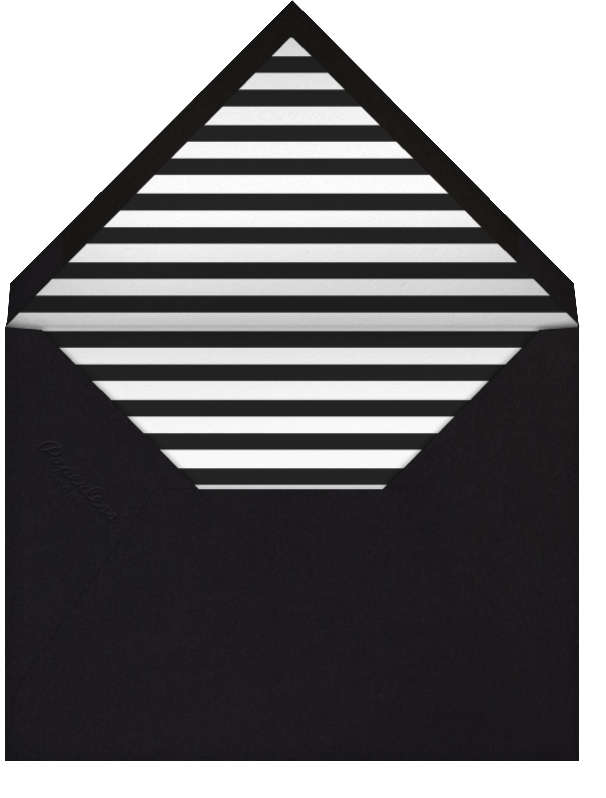 Rounded Corners - Black - Paperless Post - Graduation party - envelope back