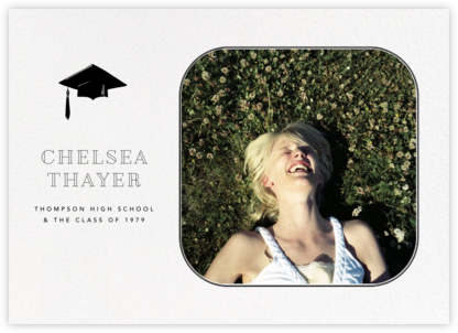 Rounded Corners - Black - Paperless Post - Graduation Announcements