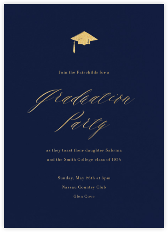 Navy (Tall) - Paperless Post - Celebration invitations