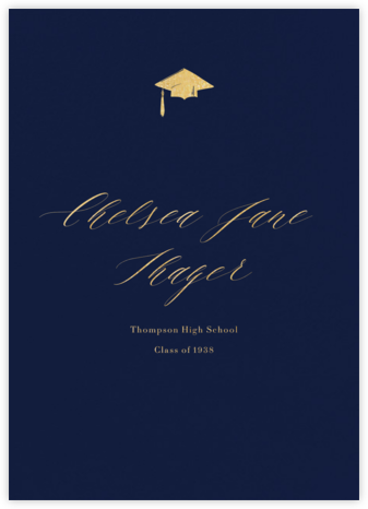Navy (Tall) - Paperless Post - Graduation Announcements
