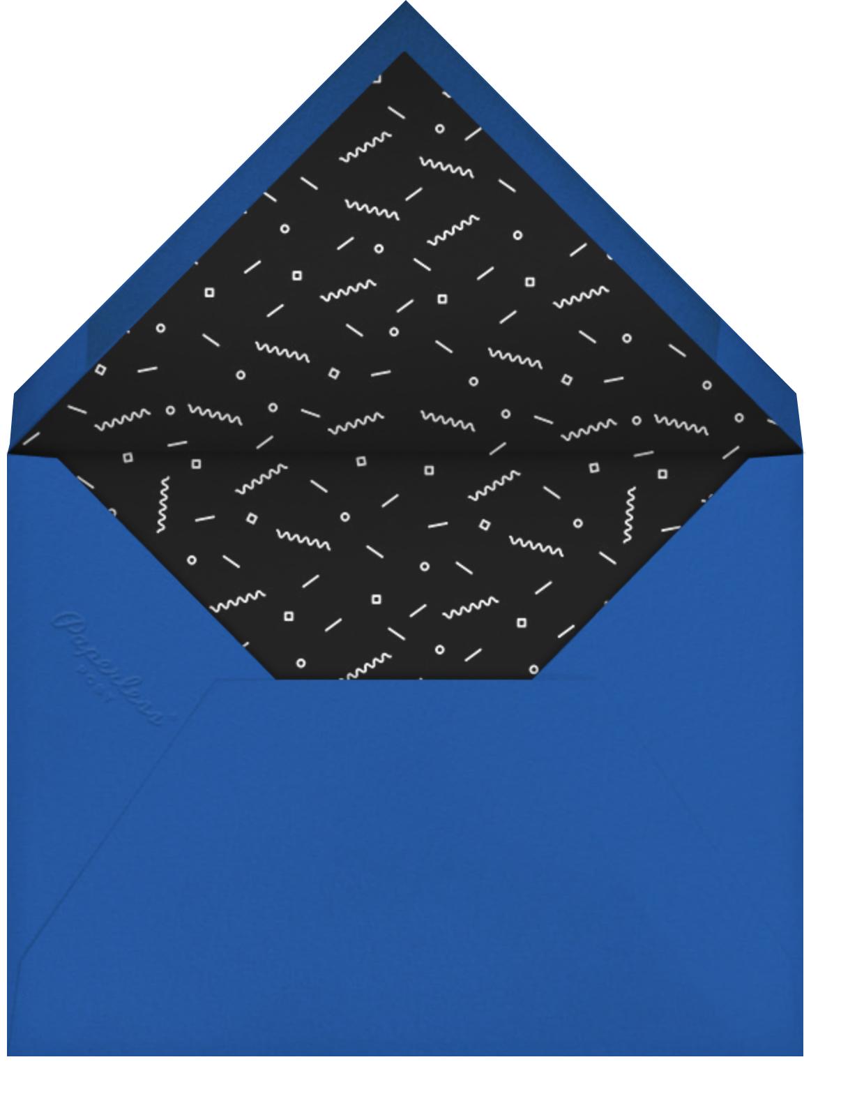 Split Square - Paperless Post - Graduation party - envelope back