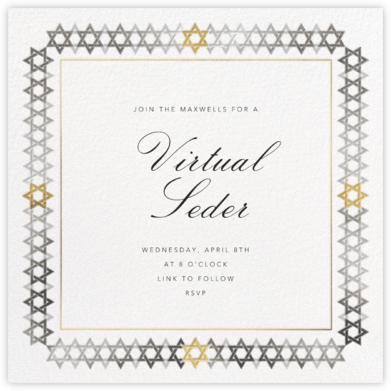 Star of David Border - Metallic - Paperless Post - Passover invitations