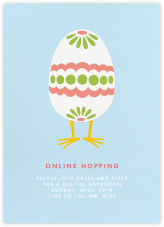 Easter Egg Chick (Invitation) - Paperless Post - Virtual Parties