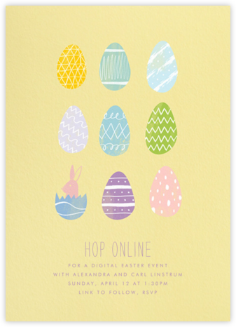Assorted Eggs - Paperless Post - Virtual Parties