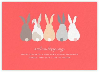 Bunny Bums (Invitation) - Paperless Post - Virtual Parties