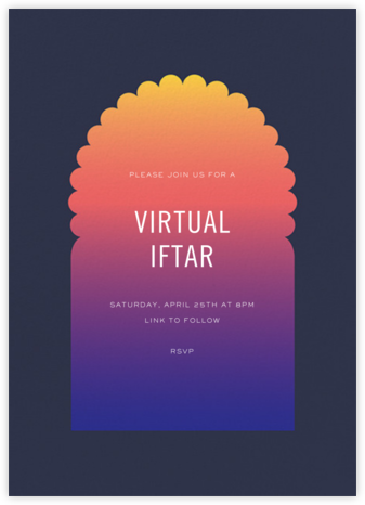 Iftar (Invitation) - Paperless Post - Virtual Parties