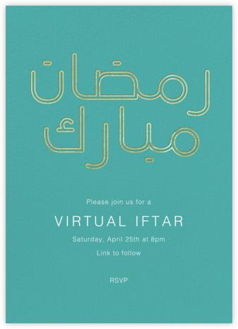Ramadan Mubarak (Invitation) - Paperless Post - Virtual Parties