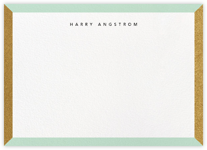 Cube - Mint - Paperless Post - Personalized Stationery