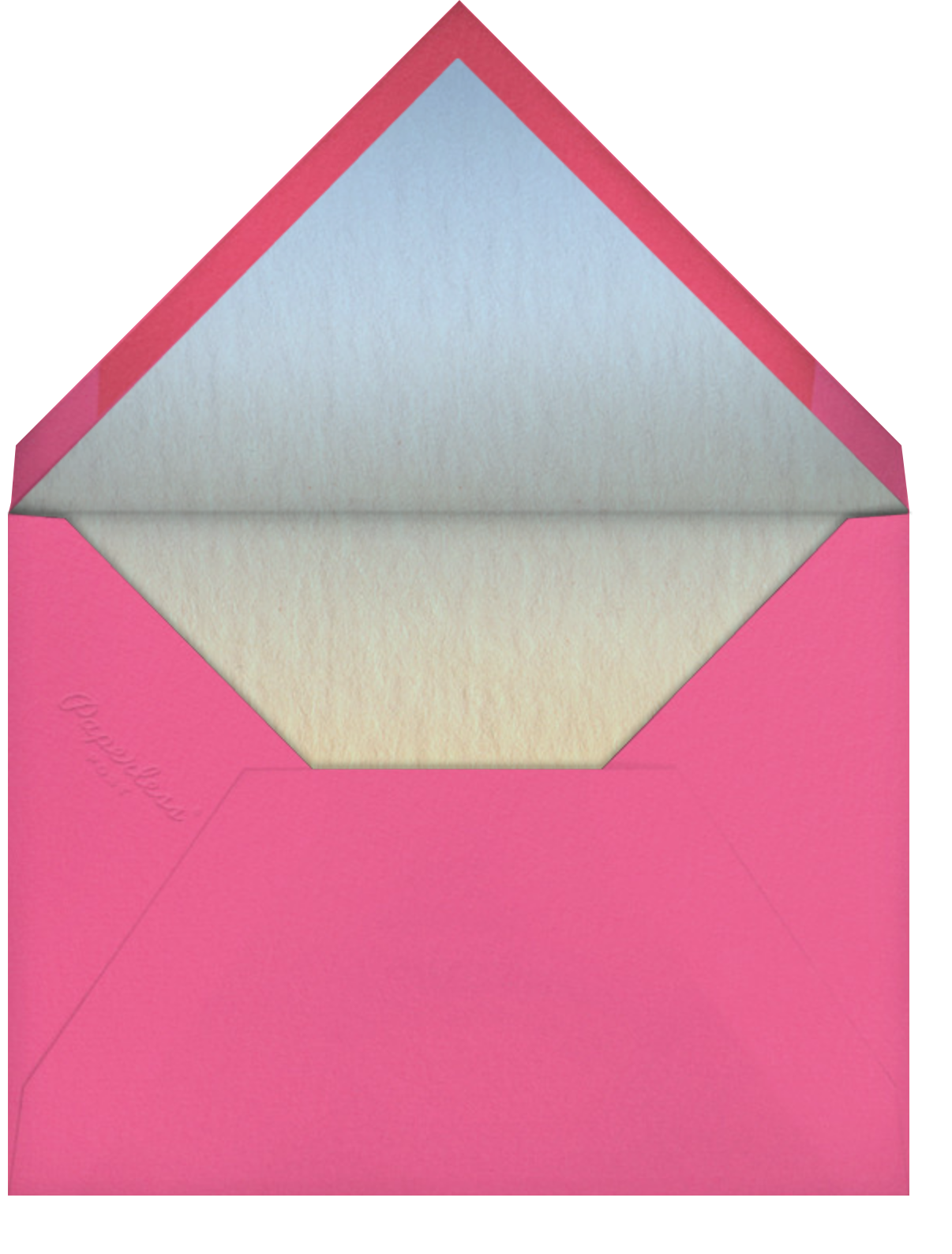 Foam Me To You - Paperless Post - Thinking of you - envelope back
