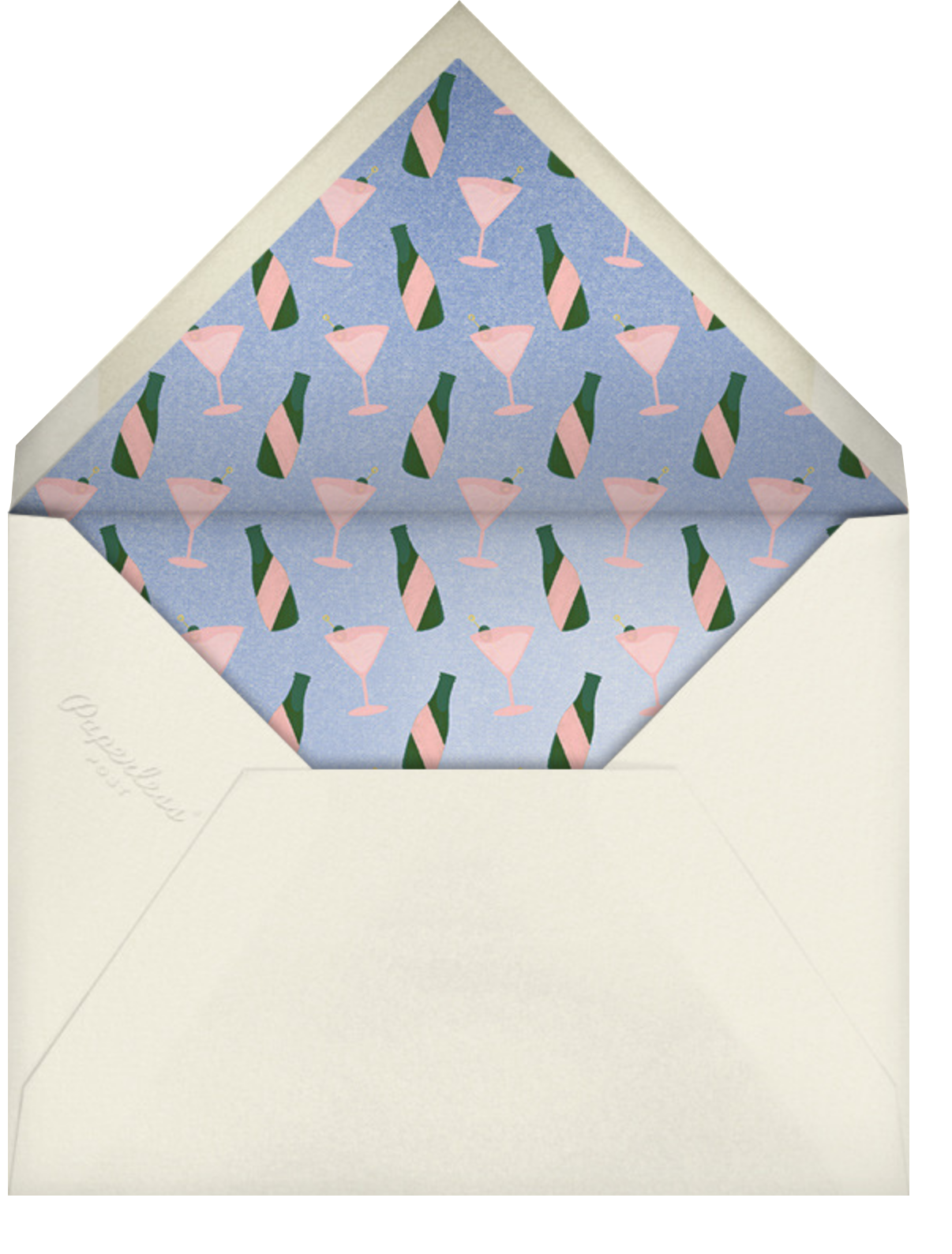 Digital Cheers - Paperless Post - Thinking of you - envelope back