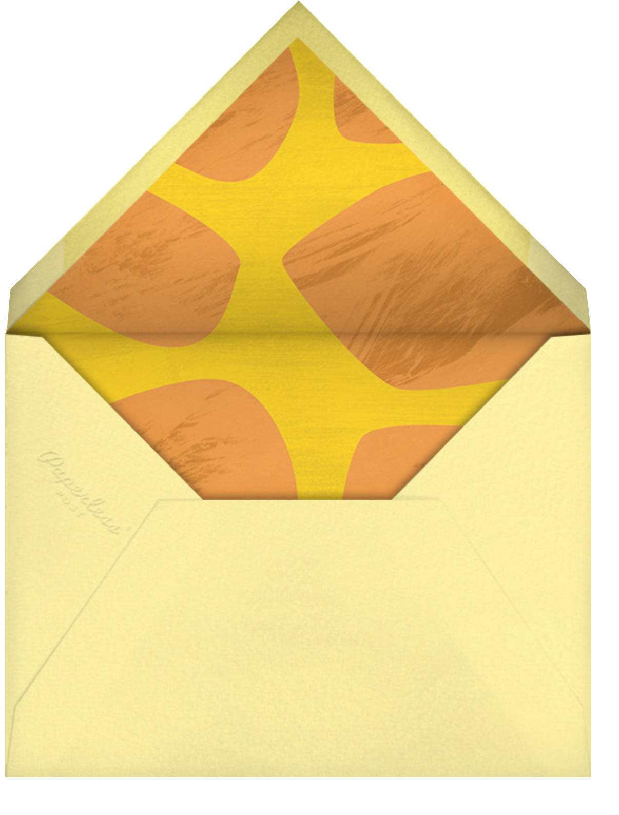 Chin Up - Paperless Post - Thinking of you - envelope back