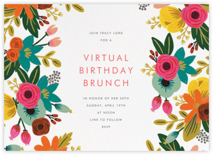 Floral Tropics - Ivory - Rifle Paper Co. - Virtual Parties