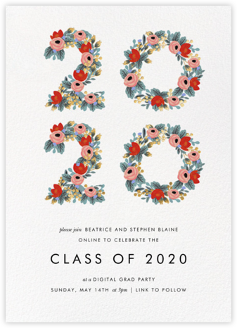 Year in Bloom - White - Rifle Paper Co. - Get-together invitations