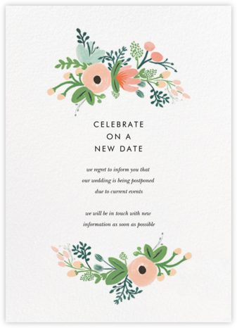 Wrapped in Wildflowers Suite - Rifle Paper Co. - Wedding Postponement Cards