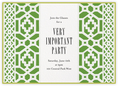 Preppy - Schumacher - Summer Party Invitations