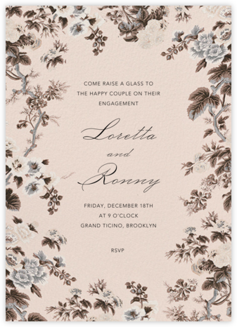 Romantic - Schumacher - Engagement party invitations