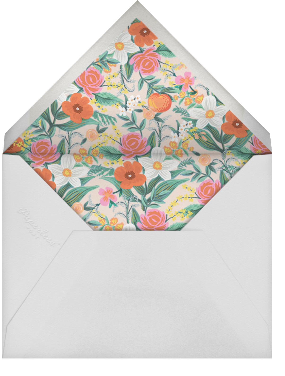 Orangerie - White - Rifle Paper Co. - Summer entertaining - envelope back