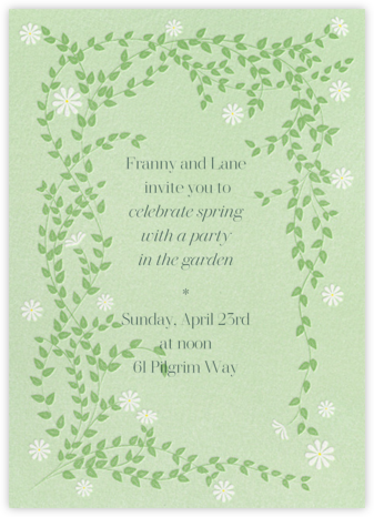 Sprawling Daisies - Paperless Post - Spring Party Invitations