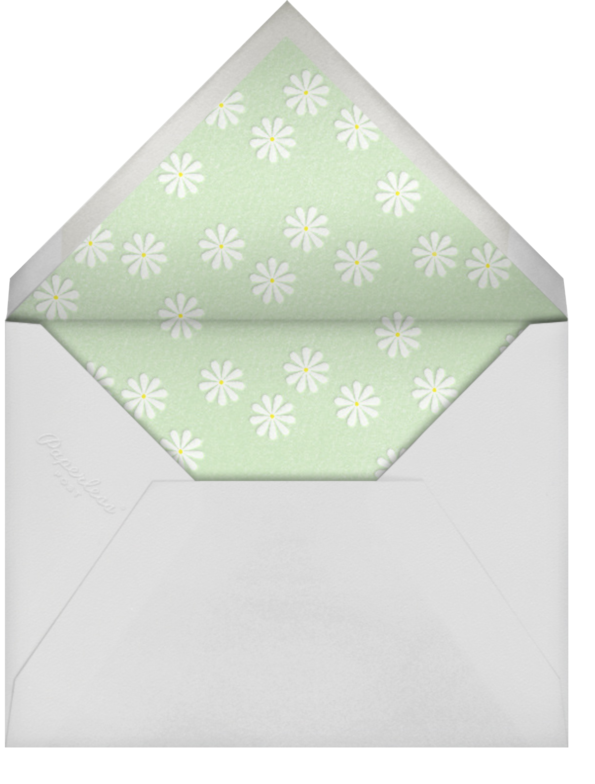 Sprawling Daisies - Paperless Post - Easter - envelope back