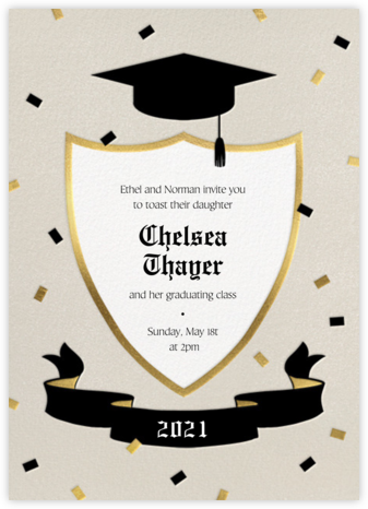 Cap and Plaque - Paperless Post - Virtual Graduation Party Invitations