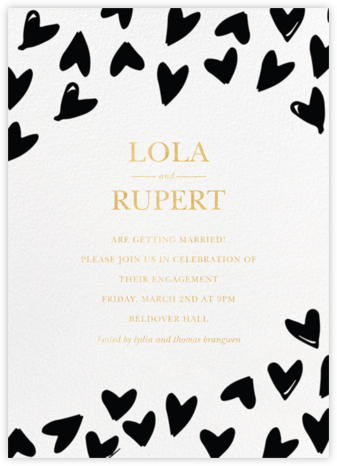Doodle Hearts - Sugar Paper - Engagement party invitations