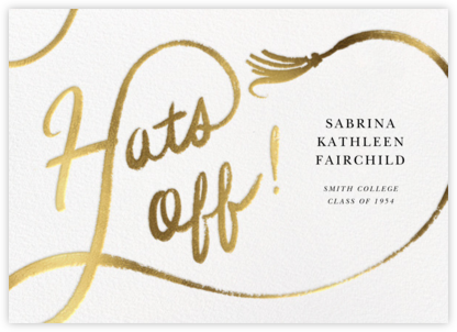 Tassel Script - Paperless Post - Graduation Announcements