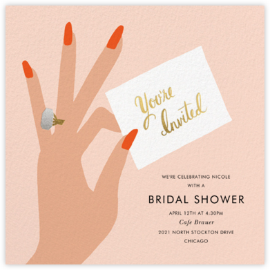 You're Invited Ring - Flame - Rifle Paper Co. - Bridal shower invitations