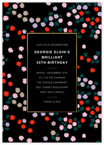 Taivaankukat - Marimekko - Adult Birthday Invitations