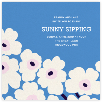 Unikko (Square) - Antwerp - Marimekko - Happy Hour Invitations