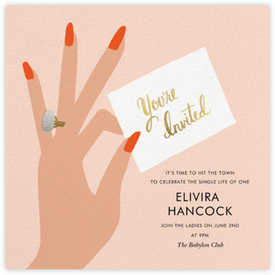 You're Invited Ring - Flame - Rifle Paper Co. -