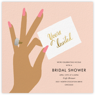 You're Invited Ring - Pink - Rifle Paper Co. - Bridal shower invitations