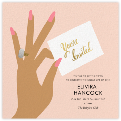 You're Invited Ring - Pink - Rifle Paper Co. - Bachelorette party invitations