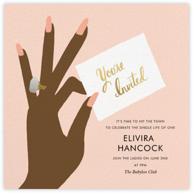 You're Invited Ring - Sherbet - Rifle Paper Co. - Bachelorette party invitations