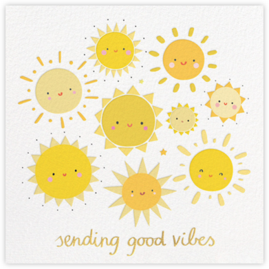 Smiling Suns - Little Cube - Online Cards