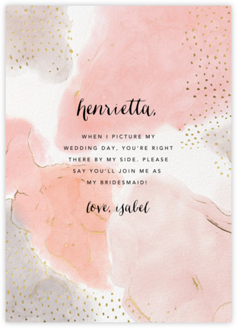 Ethereal Wash - Ashley G - Will You Be My Bridesmaid Cards