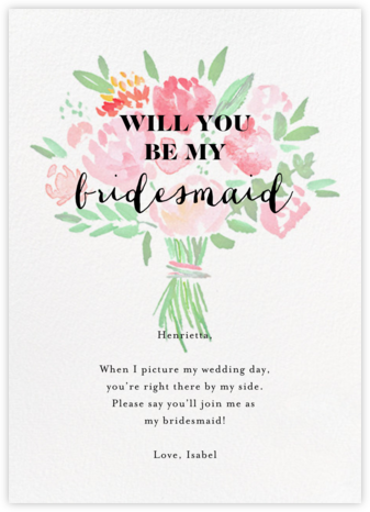 Save the Bloomin' Date - Crate & Barrel - Will You Be My Bridesmaid Cards