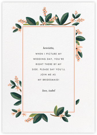 November Herbarium - Rifle Paper Co. - Will You Be My Bridesmaid Cards