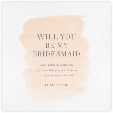 Basic Brushstroke - Bellini - Sugar Paper - Will You Be My Bridesmaid Cards