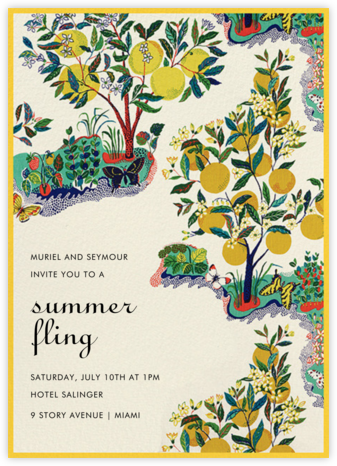 Exuberance - Schumacher - Summer Party Invitations