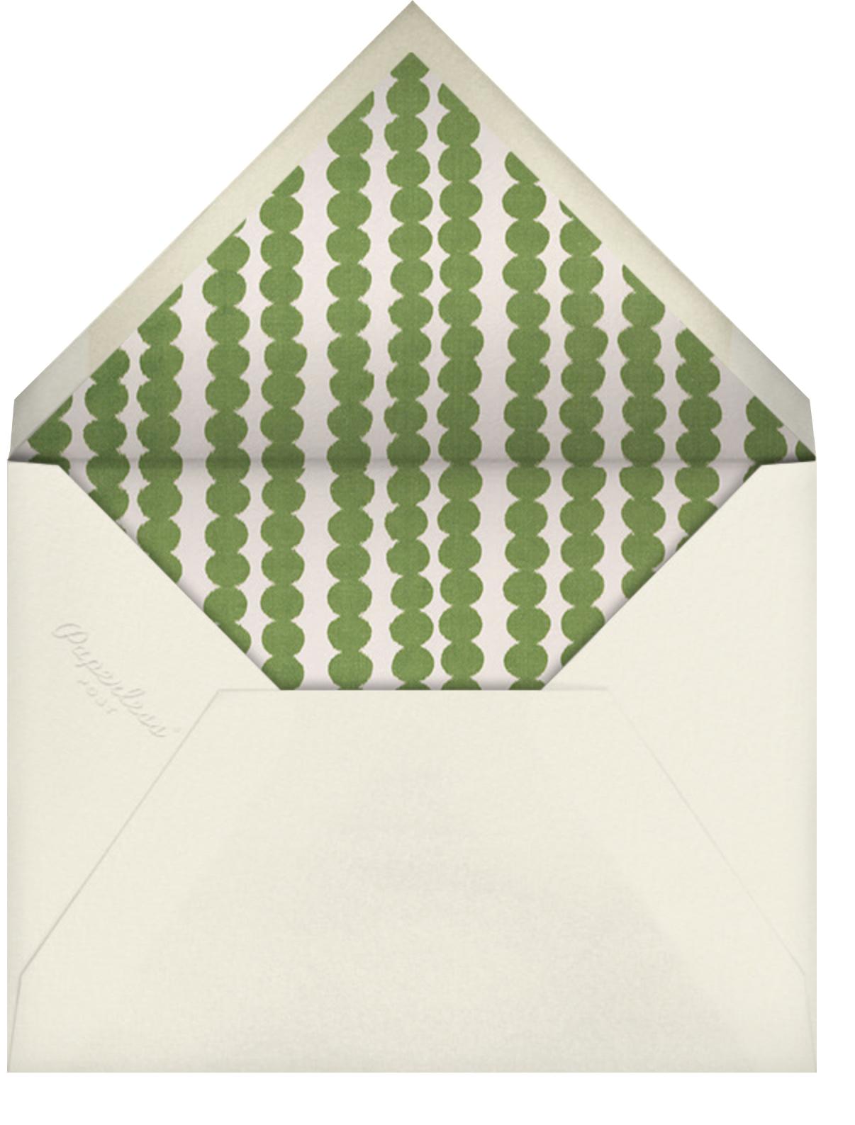 Exuberance - Schumacher - Happy hour - envelope back