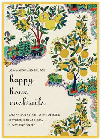 Exuberance - Schumacher - Happy Hour Invitations