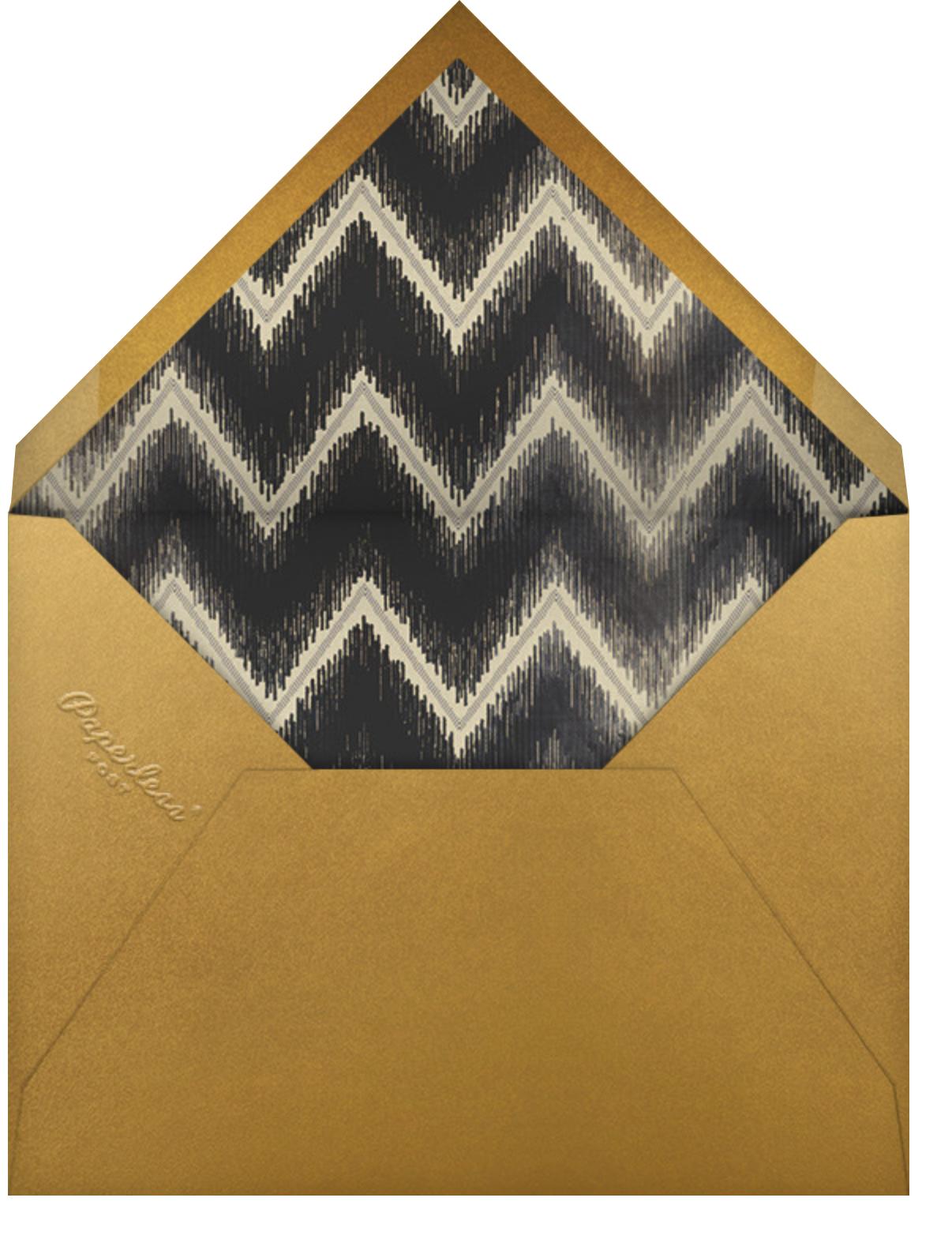 Opulent - Schumacher - Professional events - envelope back