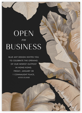 Opulent - Schumacher - Business event invitations