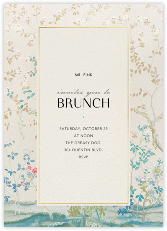 Ladylike - Schumacher - Brunch invitations