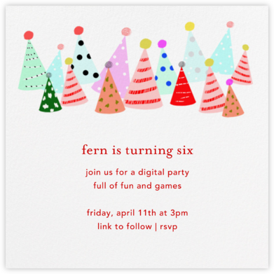 Party Hats - Ashley G - Online Party Invitations